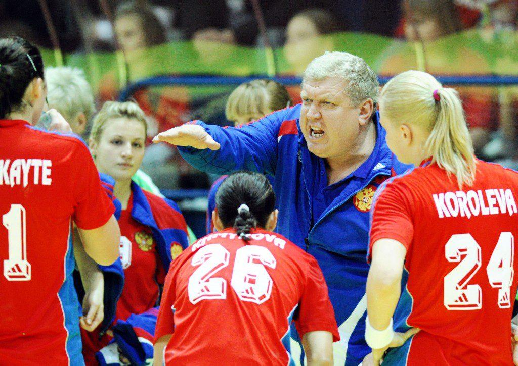 CHORZOW HALA MOSIR 31.03.2010 PILKA RECZNA ELIMINACJE MISTRZOSTW EUROPY EURO 2010 (EUROPEAN CHAMPIONSHIPS EURO 2010 QUALIFICATION GAME) POLSKA - ROSJA (POLAND VS. RUSSIA) N/Z EVGENY TREFILOV FOT LUKASZ LASKOWSKI / PRESSFOCUS