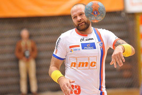 2015.10.10 ZABRZE PILKA RECZNA PUCHAR EHF SEZON 2015/2016 HANDBALL EHF CUP SEASON 2015/2016 GORNIK ZABRZE - ZTR ZAPOROZE N/Z MARIUSZ JURASIK FOTO RAFAL RUSEK / PRESSFOCUS